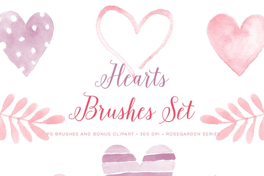 Clipart 300 dpi photoshop svg transparent library Photoshop Brushes Valentine Hearts svg transparent library