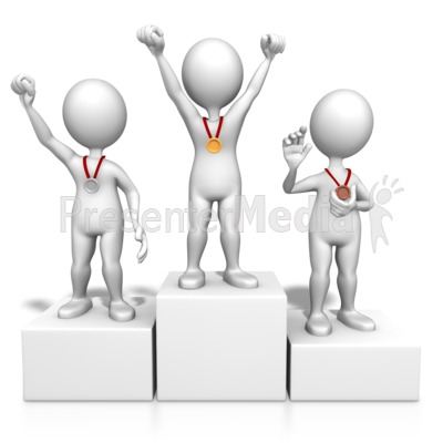 Clipart 3d awards 1st 2nd 3rd place clip art black and white Winners On Podium - Sports and Recreation - Great Clipart for ... clip art black and white