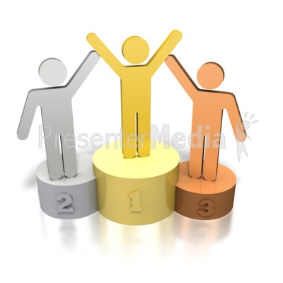 Clipart 3d awards 1st 2nd 3rd place graphic transparent stock Stick Figures Podium Winners - Signs and Symbols - Great Clipart for ... graphic transparent stock