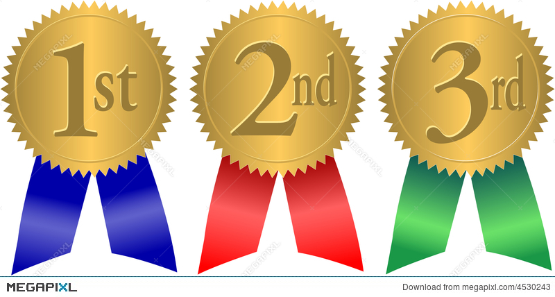 Clipart 3d awards 1st 2nd 3rd place picture royalty free stock Gold Seal Award Ribbons/eps Illustration 4530243 - Megapixl picture royalty free stock