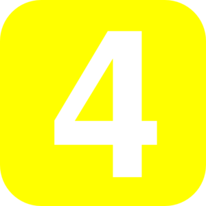 Number yellow clip art. Clipart 4