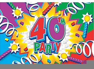 Clipart 40 ans anniversaire picture royalty free download Clipart Anniversaire Gratuit Ans | Free Images at Clker.com - vector ... picture royalty free download