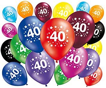 Clipart 40 ans anniversaire clip transparent stock FABSUD Lot de 20 Ballons anniversaire 40 ans clip transparent stock