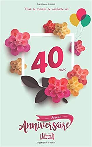 Clipart 40 ans anniversaire graphic royalty free Joyeux anniversaire - 40 ans: Thème girly, livre à personnaliser ... graphic royalty free