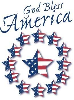 Clipart 4th of july god bless america svg library God Bless America Poster | Clip Art: Patriotic Graphics and Borders ... svg library