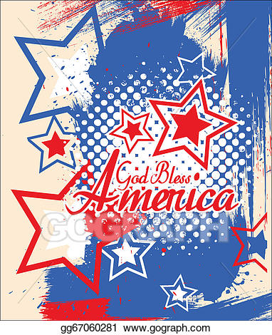 Clipart 4th of july god bless america clip art royalty free download Vector Clipart - God bless america - 4th of july. Vector ... clip art royalty free download
