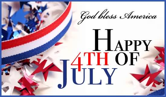 Clipart 4th of july god bless america banner library stock God Bless America Happy 4th Of July Greeting Card - Free Printable ... banner library stock