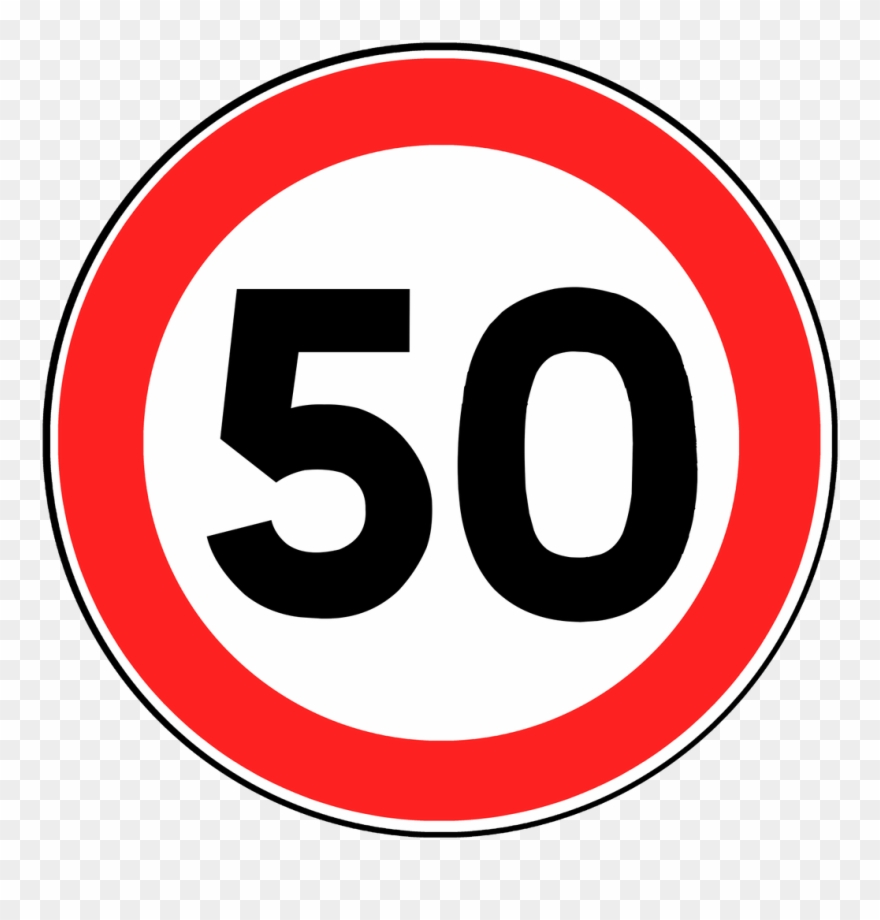 Clipart 50 jpg royalty free 50 Speed Limit Sign Clipart (#776473) - PinClipart jpg royalty free