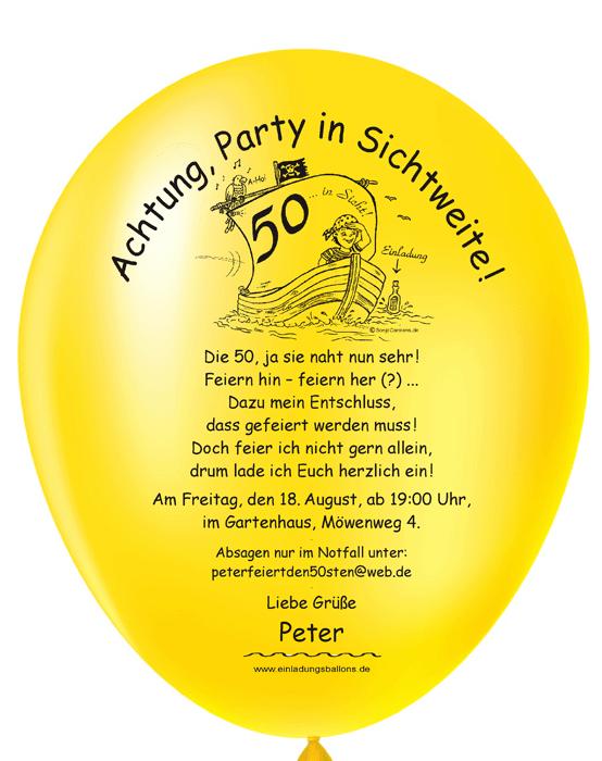 Clipart 50 geburtstag einladung picture freeuse library Balloneinladungen Shop: individuelle und originelle Einladungen picture freeuse library
