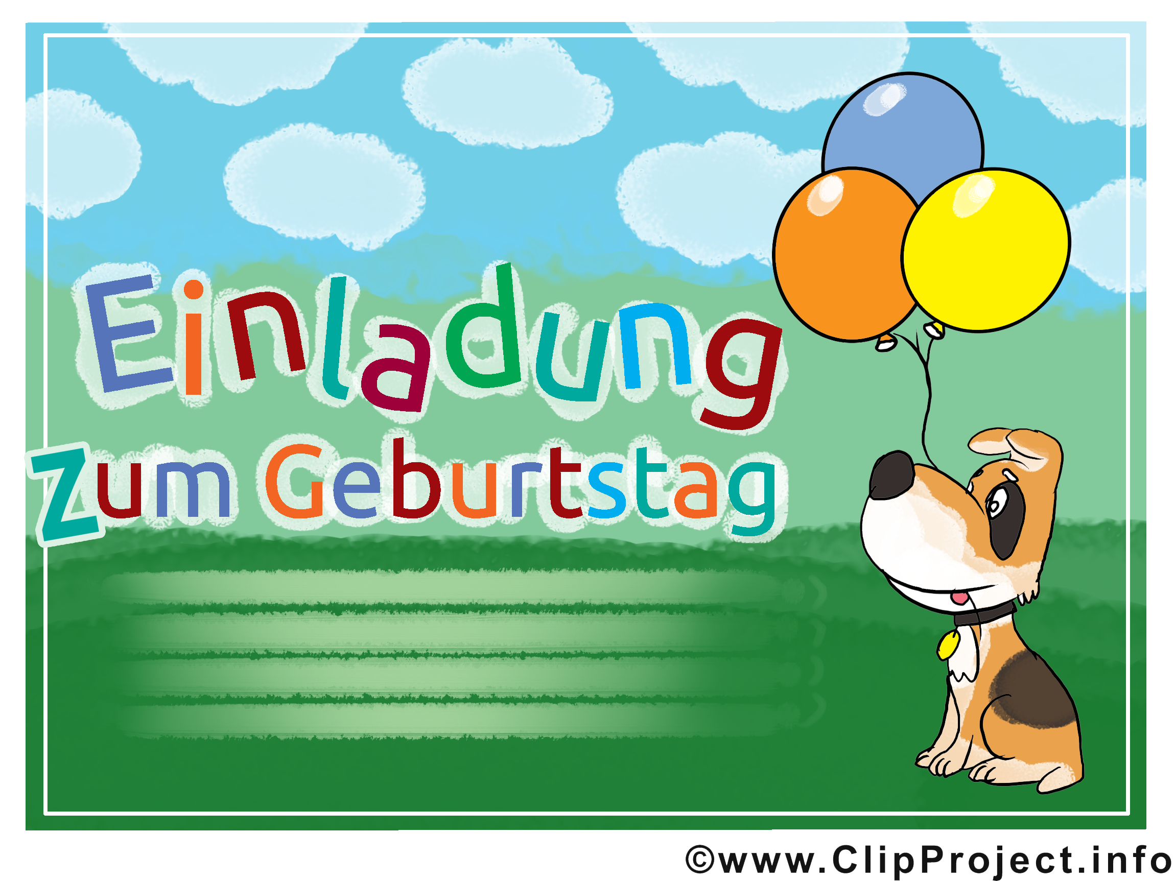 Clipart 50 geburtstag einladung graphic royalty free Cliparts Geburtstag Einladung | unboxiousguru.co graphic royalty free