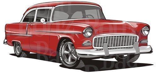 Clipart 55 chevy clip art stock 1955 Chevy Bel Air clip art stock