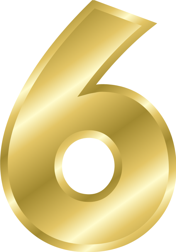 Number clipartfest. Clipart 6