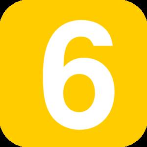 Number square orange clip. Clipart 6