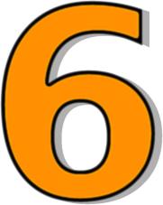Clipart 6. Number clipartfest orange