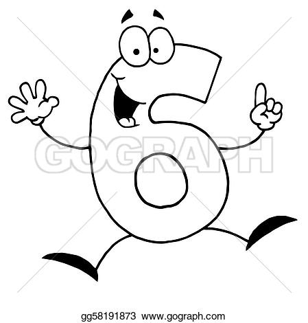 Clipart 6. Number clip art royalty