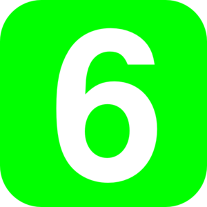 Clipart 6. Number clip art images