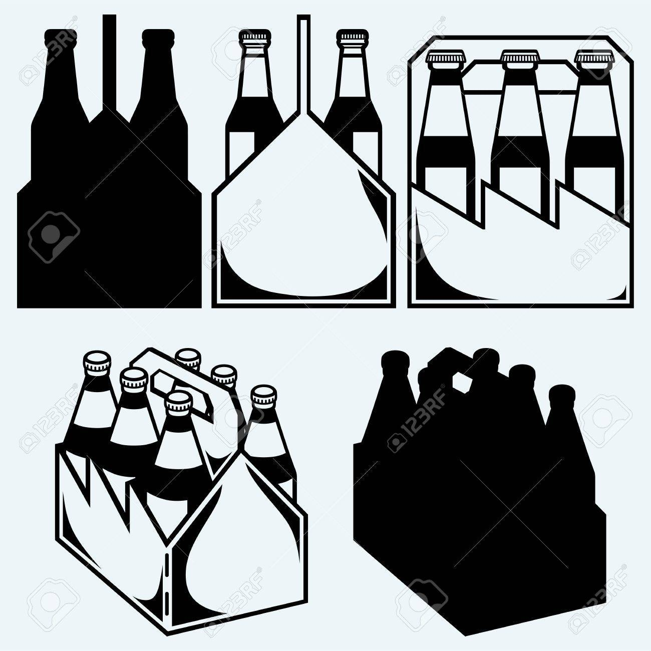 Clipart 6 pack beer clip black and white library Six pack beer clipart 2 » Clipart Portal clip black and white library