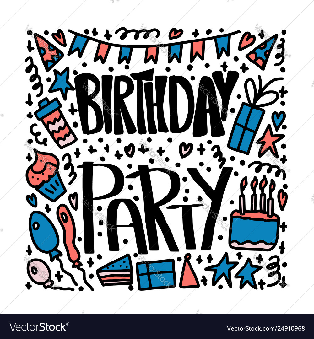 Clipart 68birthday banner library stock Birthday party poster concept design banner library stock