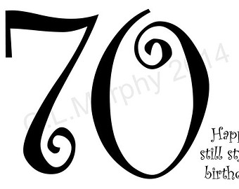 Clipart 70th birthday svg freeuse library Happy 70th birthday | Etsy svg freeuse library
