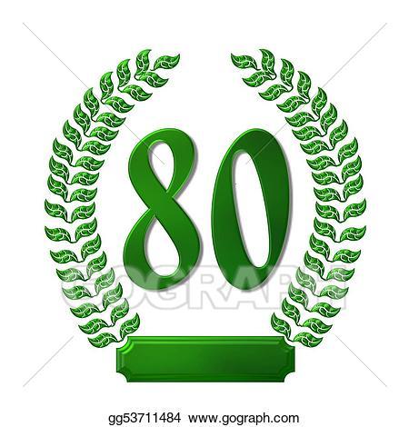 Clipart 80 clip art library download Stock Illustration - Green laurel wreath 80. Clipart Illustrations ... clip art library download
