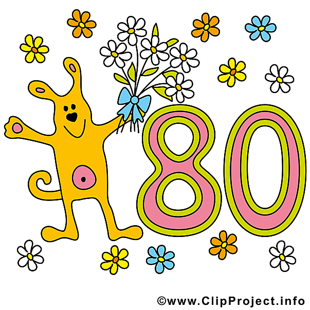 Clipart 80 jpg freeuse library 80. geburtstag clipart 4 » Clipart Station jpg freeuse library