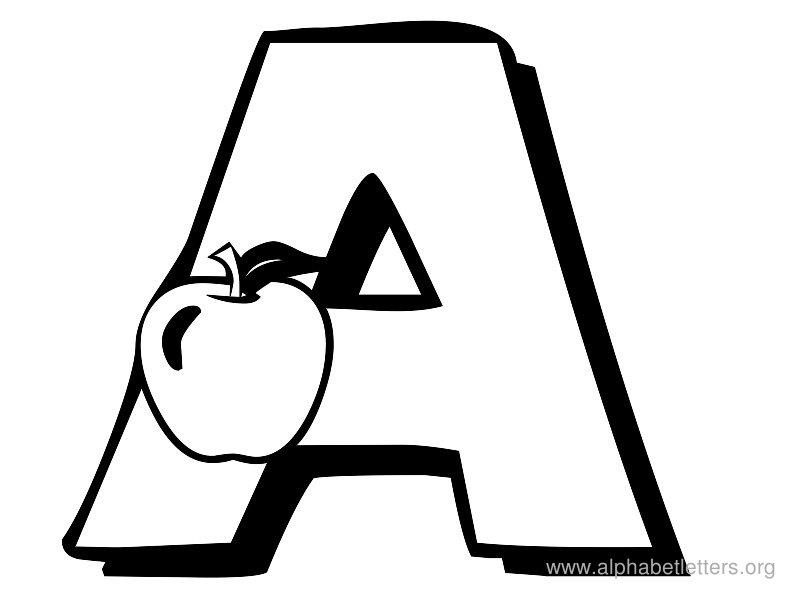Clipart a. Of letter clipartfest alphabet