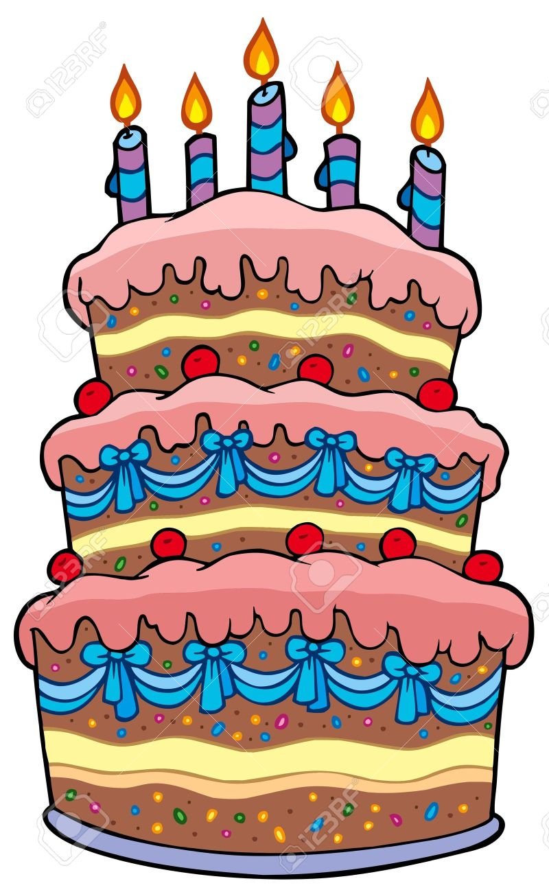 Clipartfest. Clipart a big birthday cake animated