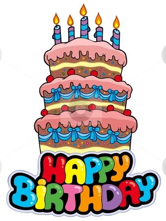 Clipart a big birthday cake animated. Happy cartoon free download