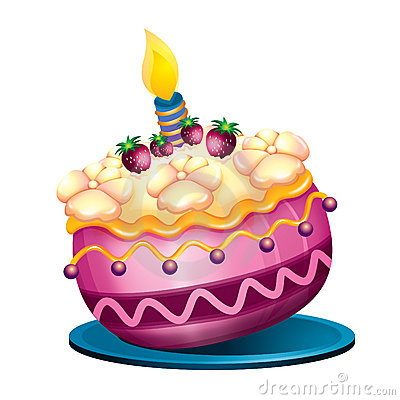 Clipart a big birthday cake animated. Stock photos images pictures