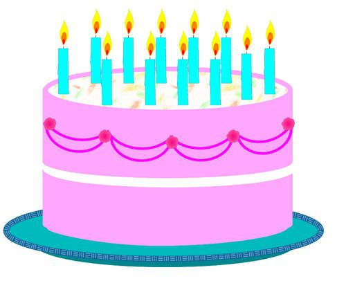 Clipart a big birthday cake animated. With candles birthdaycake clipartfest