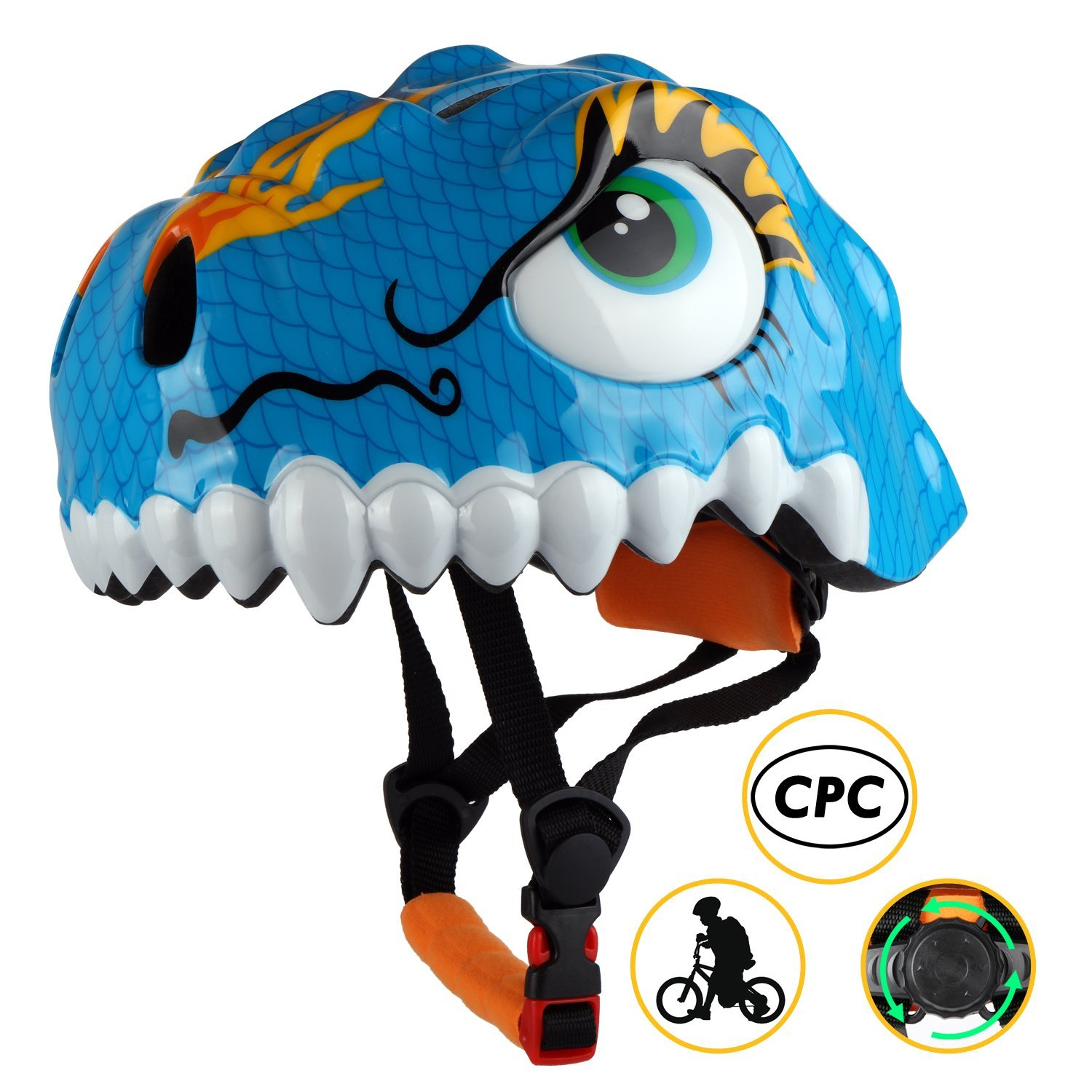 Clipart a boy riding on a dinosaur clipart freeuse Shinmax Kids Bike Helmet, Children Multi-Sport Cycling Helmet CPC&CE  Certified 3D Cartoon Infant/Toddler Helmet for Boys and Girls  Riding/Skating ... clipart freeuse