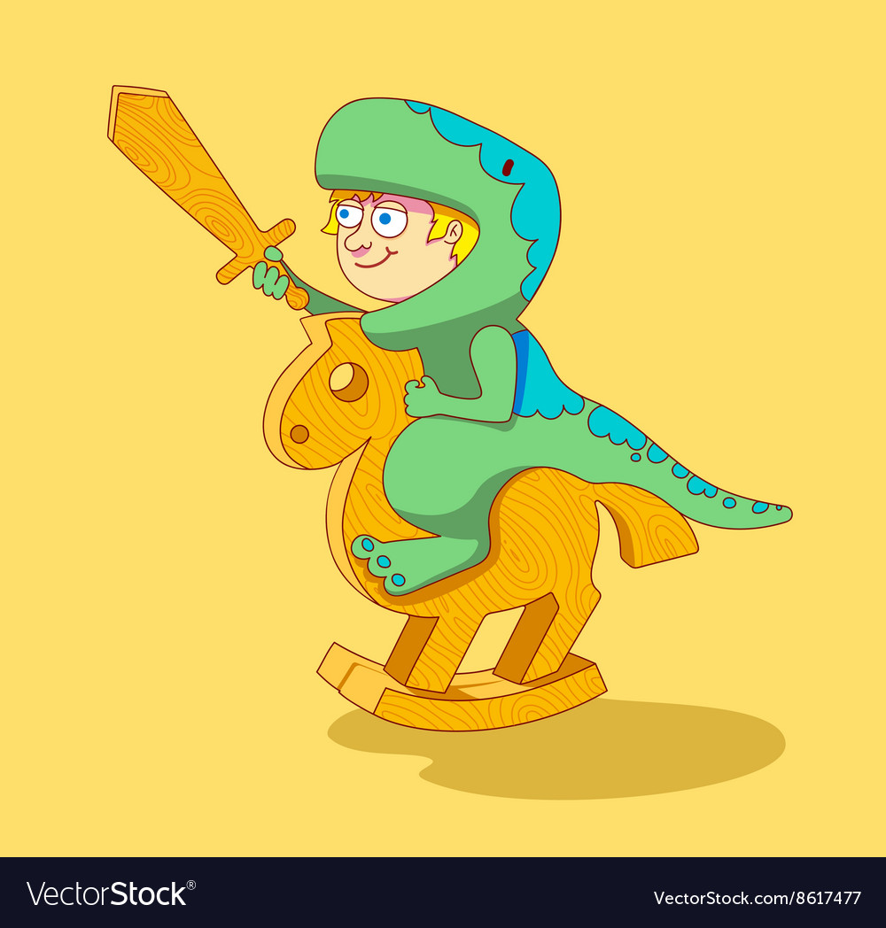 Clipart a boy riding on a dinosaur png free stock Little Boy riding a wooden horse png free stock