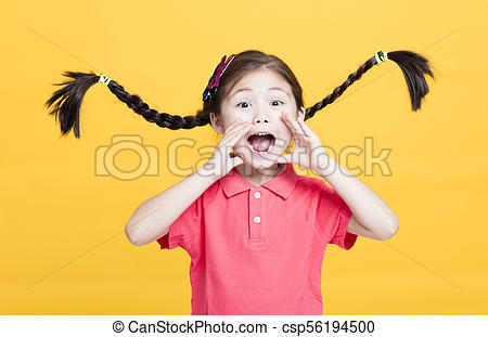 Clipart a littile girl yelling to come eat clipart free download Closeup portrait of cute little girl yelling clipart free download