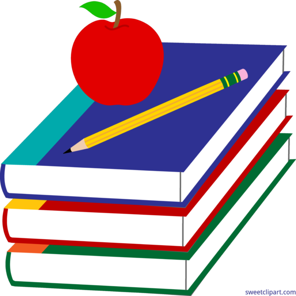 Clipart books with apple on top image royalty free stock Education Archives - Sweet Clip Art image royalty free stock