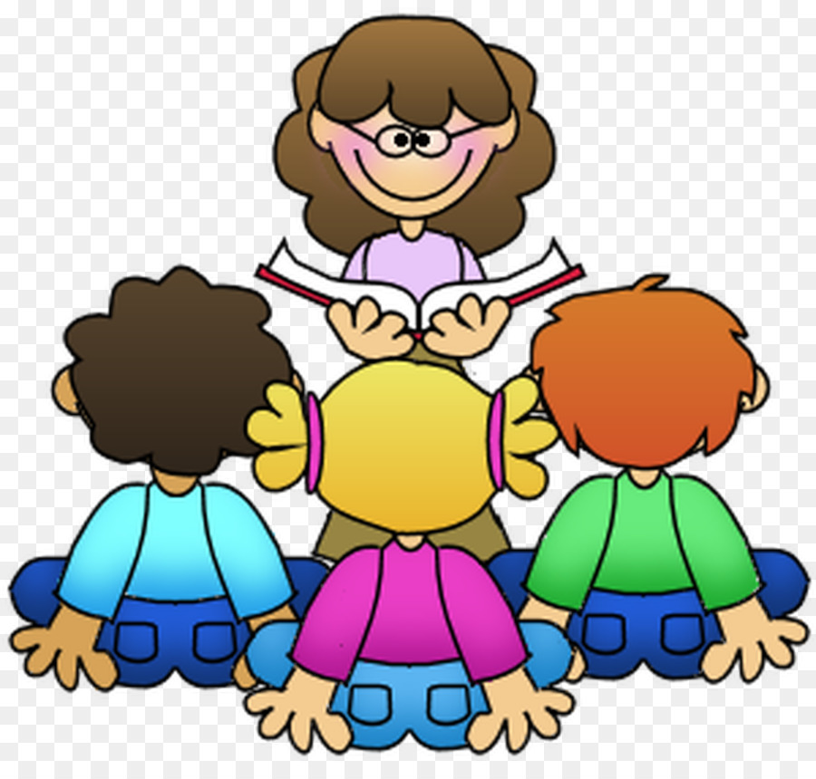 Free clipart of teacher reading to students picture transparent library School Child png download - 930*880 - Free Transparent Guided ... picture transparent library