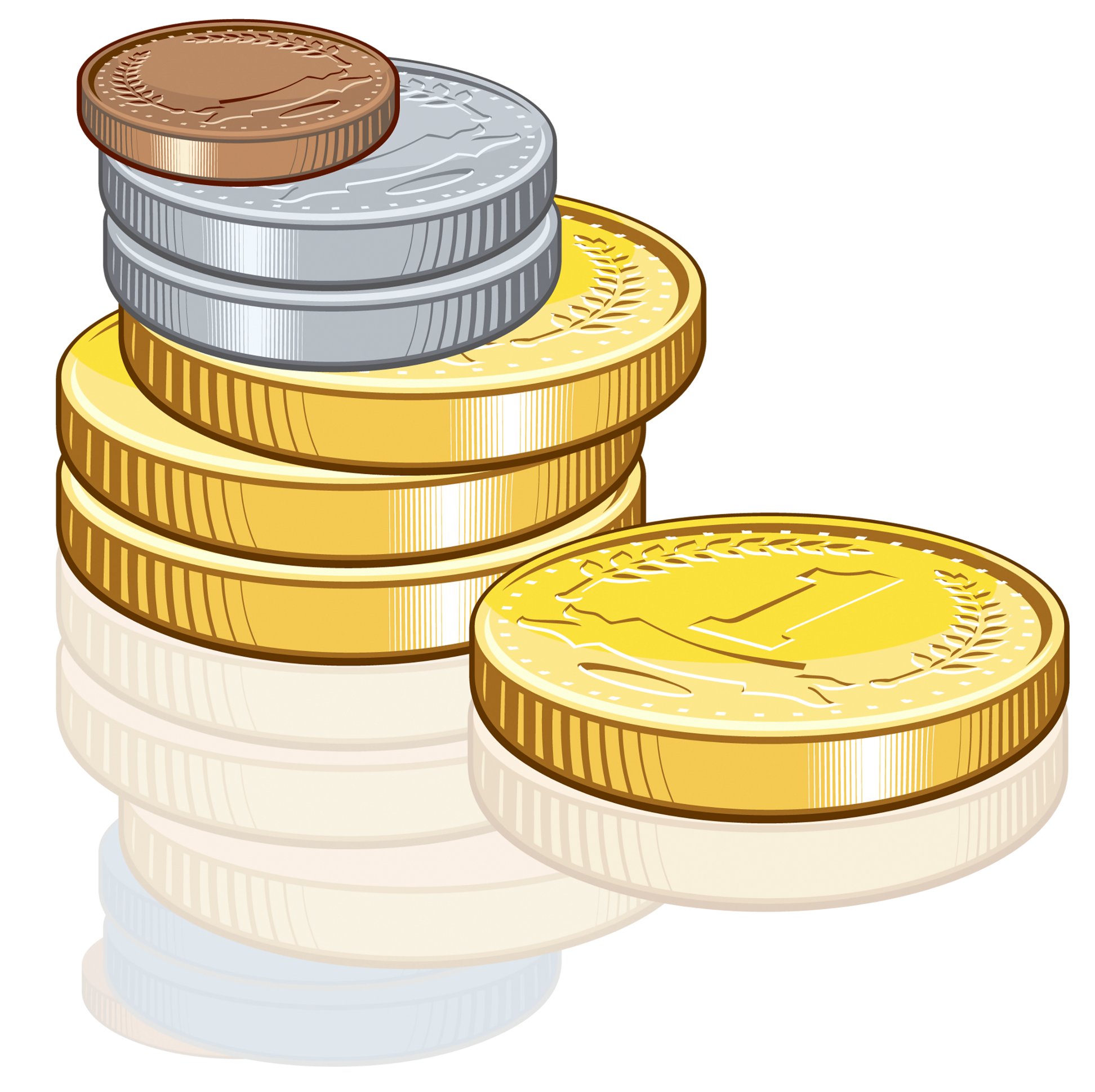 Free clipart money images clip art freeuse stock Coins PNG Clipart | Gallery Yopriceville - High-Quality Images and ... clip art freeuse stock