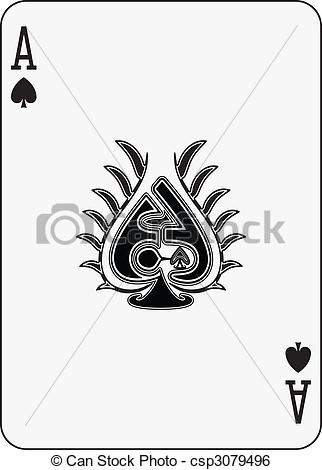 Clipart ace of spades transparent library Ace spades Clipart Vector and Illustration. 2,772 Ace spades clip ... transparent library