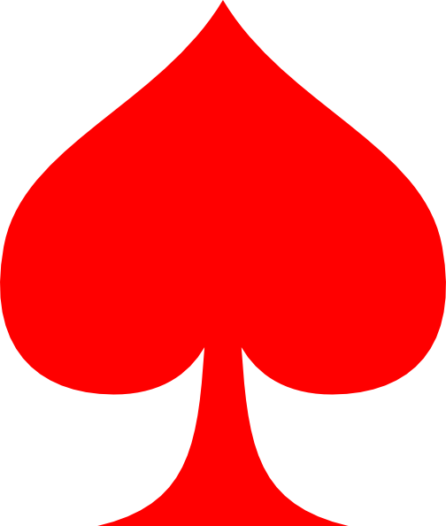 Clipart ace of spades picture freeuse Red Spade Ace Clip Art at Clker.com - vector clip art online ... picture freeuse