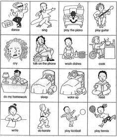 Clipart actions in english graphic black and white 74 Best Actions Words images in 2019 | Teaching english, English ... graphic black and white