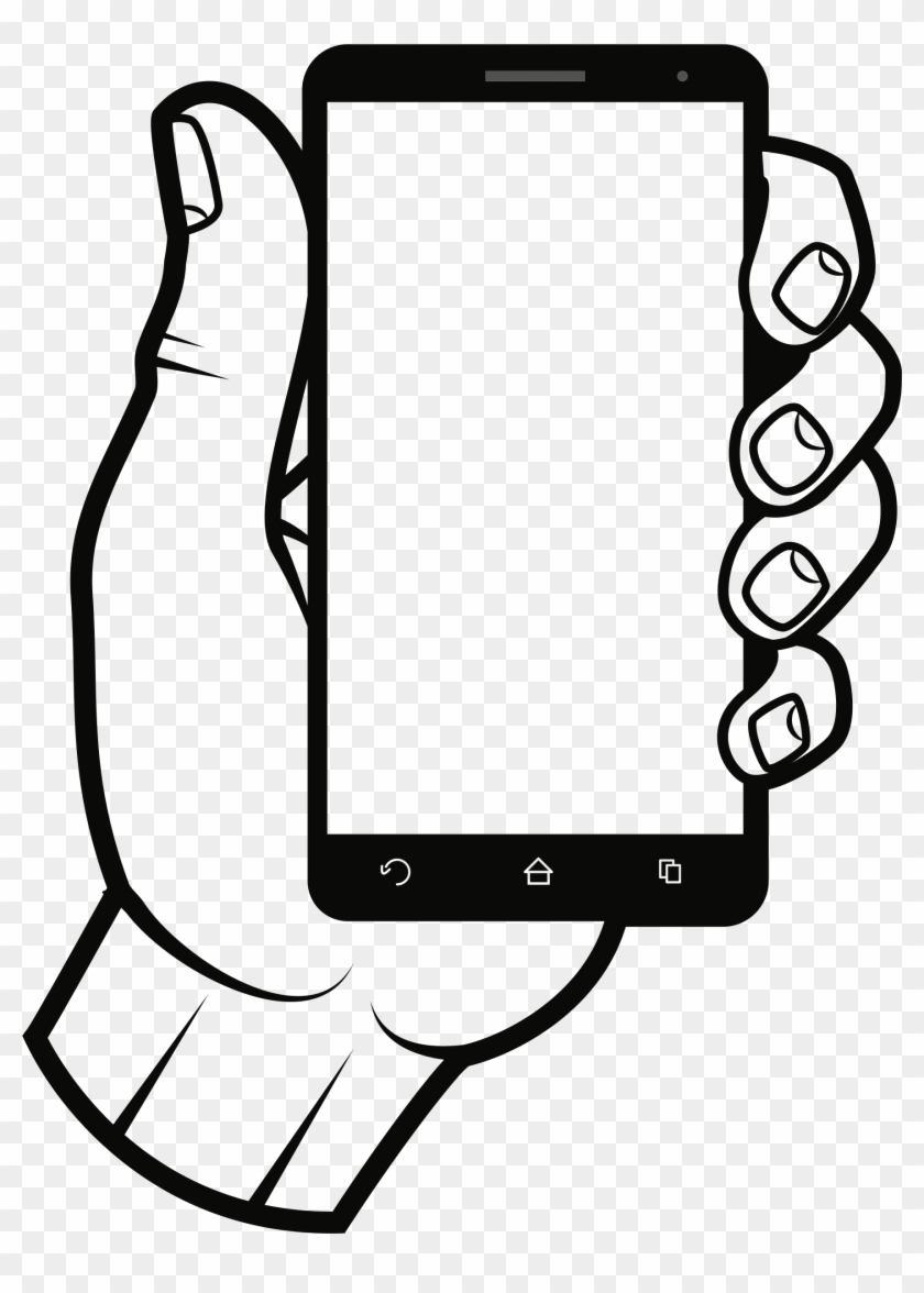 Clipart addiction banner transparent download Graphic Freeuse Black And White Smartphone Clipart - Addiction Of ... banner transparent download