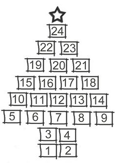 Clipart advent calendar image free stock Christmas advent calendar clipart black and white - ClipartFest image free stock