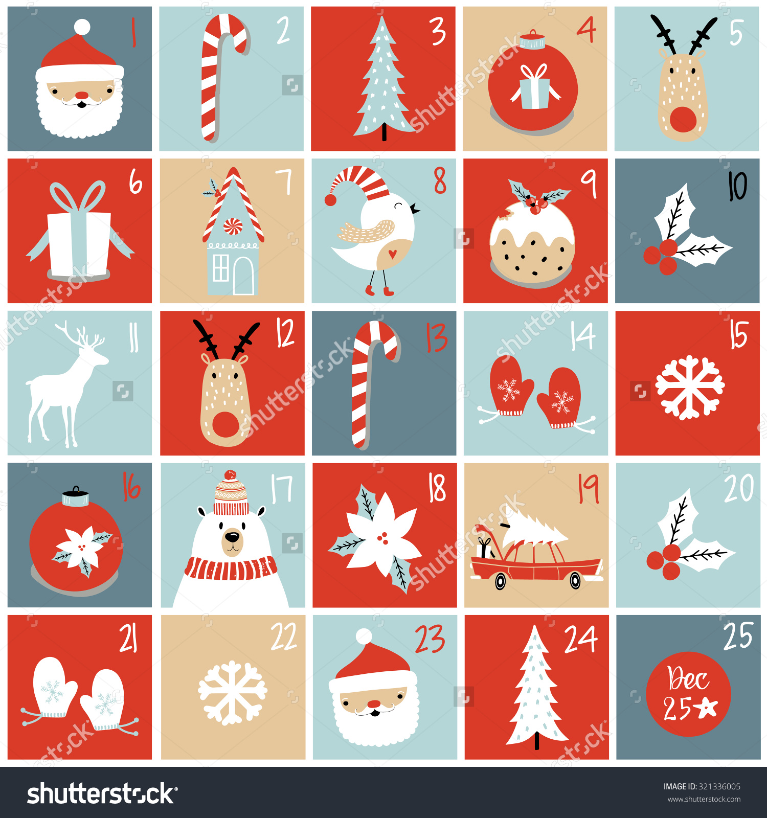 Clipart advent calendar image black and white stock Advent Calendar Christmas Poster Stock Vector 321336005 - Shutterstock image black and white stock