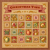 Clipart advent calendar clip freeuse Advent Calendar Clip Art - Royalty Free - GoGraph clip freeuse
