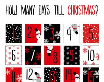 Clipart advent calendar picture free Christmas advent calendar clipart black and white - ClipartFox picture free