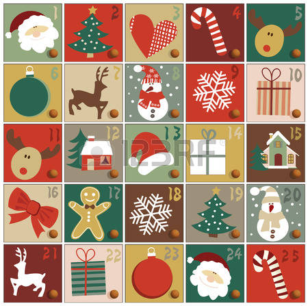Clipart advent calendar vector stock Advent Calendar Clipart (31+) vector stock