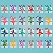 Clipart advent calendar clip transparent download Advent Calendar Clip Art - Royalty Free - GoGraph clip transparent download