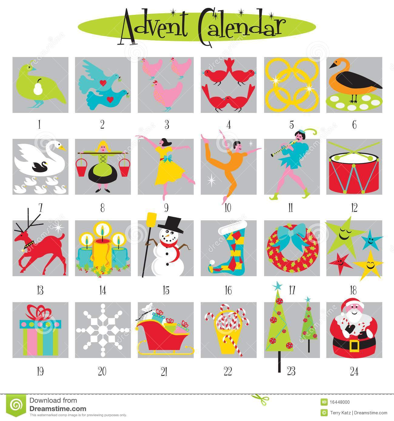 Clipart advent calendar graphic transparent 12 Days Of Christmas And Advent Calendar Stock Photo - Image: 16448000 graphic transparent