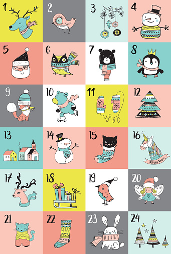 Clipart advent calendar clker png freeuse Merry christmas advent calendar clipart - ClipartFest png freeuse