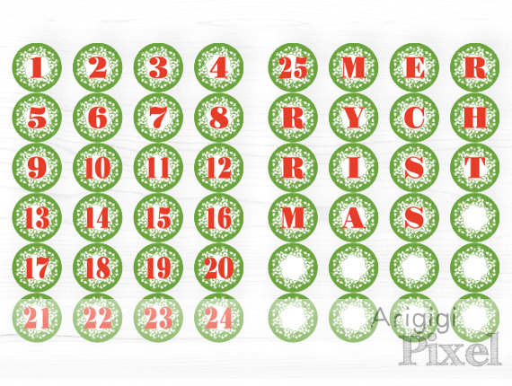 Clipart advent calendar clker graphic library Merry christmas advent calendar clipart - ClipartFest graphic library
