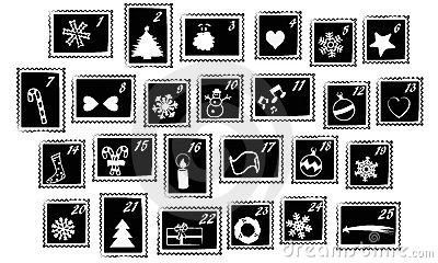 Clipart advent calendar clker svg download Christmas advent calendar clipart black and white - ClipartFest svg download